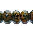 AGATE BEADS – FACETED RONDELLES BLACK YELLOW 12X17MM
