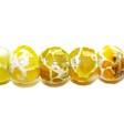 AGATE BEADS GEMSTONE – FACETED RONDELLES YELLOW 9X14MM