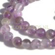 AMETHYST GEMSTONE BEADS ROUND 8MM - 1 STRAND BEADS