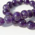 AMETHIST GEMSTONE BEADS - AMETHIST ROUND 12MM