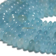 AQUAMARINE BEADS ROUNDELLE 8x4MM