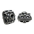 Beads Bali 925 Sterling Silver, Bali Square 10x8mm
