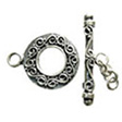 TOGGLE CLASPS STERLING SILVER, EXCLUSIVE CLASP CURLY 17.5MM