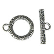 TOGGLE CLASPS 925 SILVER, CLASP ART NOUVEAU 13.5MM