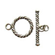 TOGGLE CLASPS STERLING SILVER, TOGGLE CLASP CABLES 13MM