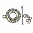 TOGGLE CLASPS 925 STERLING SILVER, CLASP LEAVES 14MM