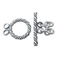 STERLING SILVER TOGGLE CLASPS, DOUBLE FAT CABLE 16MM