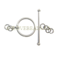 TOGGLE CLASPS STERLING SILVER, TOGGLE CLASP 925 SILVER 12.5MM