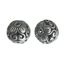 Bali Kralen 925 Sterling Zilver, Kraal Flower Hearts 11.5mm