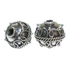Kralen Bali Zilver Sterling 925, Kraal Curly 12.5x10mm