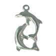 SILVER CHARM GRACEFUL DOLPHIN - 15MM STERLING SILVER