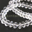 ROCK QUARTZ BEADS - FACETED RONDELLES A-QUALITY 8MM
