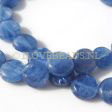 KYANITE BEADS BLUE - FLAT COIN BEADS 9x3MM