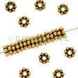 GOLDEN SPACER DAISY, ANTIQUE GOLD 22K GOLD ON SILVER 5MM