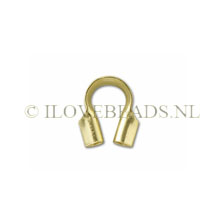 CABLE AND STRINGING THIMBLE 4.5MM 14K GOLD FILLED