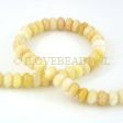 JADE GEMSTONES BEADS - JADE RONDELLES 8X5MM