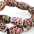 JADE GEMSTONES BEADS - JADE BEAD RED FLOWER 20X12MM