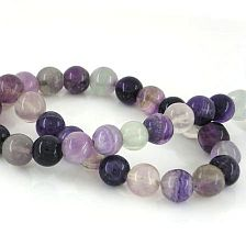 FLUORITE BEADS - GEMSTONE BEADS ROUND 10MM