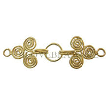 HOOK CLASP BALI GOLD, CLASP TRISKEL 37X11MM