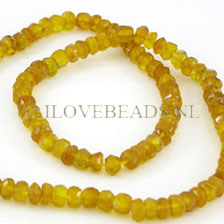 YELLOW ONYX AAA QUALITY FACETED RONDELLE BEADS 5MM