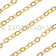 GOLDEN CABLE CHAIN 2.5MM, 14K GOLD FILLED PER CM