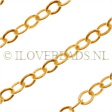 GOLDEN CABLE CHAIN 3.2MM, 14K GOLD FILLED PER CM