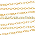 GOLDEN CABLE CHAIN 2MM, 14K GOLD FILLED PER CM