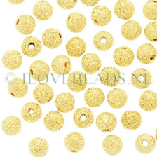 GOUDEN KRALEN – 14K GOLD FILLED STARDUST KRAAL 4MM