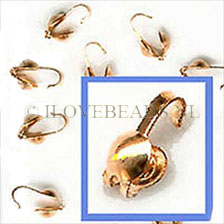 GOLDEN CLAMSHELL KNOT COVERS, 7X3.5MM 14K GOLD FILLED