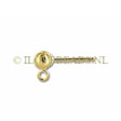 GOUDEN OORSTEKERS, 14Krt. GOLD FILLED, BAL 4MM