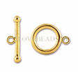 GOLDEN CLASPS - GOLDFILLED TOGGLE CLASP 9MM