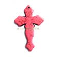 GEMSTONE PENDANTS – CROSS PENDANT 29X44MM PINK