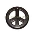 GEMSTONE PENDANTS – PEACE SIGN PENDANT 34MM