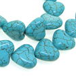 GEMSTONE BEADS HOWLITE – BEAD / CHARM TURQUOISE HEART 12MM