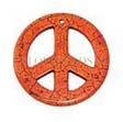 GEMSTONE PENDANTS – PEACE SIGN PENDANT 55MM!