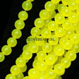 JADE GEMSTONES BEADS - YELLOW NEON ROUND JADE BEADS 6MM