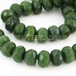 JADE GEMSTONES BEADS - FACETED JADE RONDELLES 10X7MM