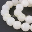 JADE GEMSTONES BEADS - ROUND WHITE JADE BEADS 12MM