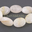 JADE GEMSTONES BEADS - WHITE JADE OVAL BEADS 18X13MM