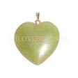 JADE - GEMSTONE HART PENDANT 30MM