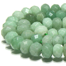 JADE GEMSTONES BEADS - JADE RONDELLES SOFT GREEN 12x8MM