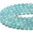JADE GEMSTONES BEADS - AQUA BLUE ROUND JADE BEADS 6MM