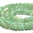 JADE GEMSTONES BEADS - JADE RONDELLES SOFT GREEN 8X5MM