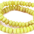 JADE GEMSTONES BEADS - JADE RONDELLES OLIVE GREEN 8X5MM