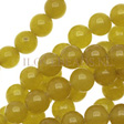 JADE GEMSTONES BEADS - OLIVE GREEN JADE BEADS 6MM