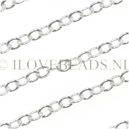 STERLING SILVER CABLE CHAIN 1.9MM PER CM