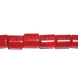 RED CORAL BEADS - CILINDER 7X7.5- 8.5MM
