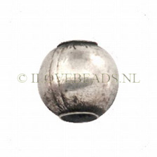 Beads Thai Silver, Round Silver Bead 8x9mm