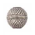 Thai Silver Tribe Beads, Silver Bead Woven 16x15mm