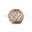 Beads Thai Silver, Silver Bead Woven 8x8.5mm